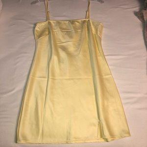 Princess Polly yellow slip dress